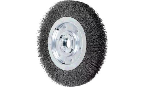 "PFERD 81135 Medium Face Crimped Wire Wheel | 10"" Diameter | 1-1/4"" Width | Carbon Steel Wire"