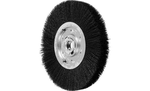 "PFERD 81138 Medium Face Crimped Wire Wheel | 12"" Diameter | 1-1/2"" Width | Carbon Steel Wire"