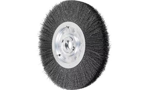 "PFERD 81139 Medium Face Crimped Wire Wheel | 12"" Diameter | 1-1/2"" Width | Carbon Steel Wire"