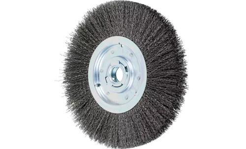 "PFERD 81140 Medium Face Crimped Wire Wheel | 12"" Diameter | 1-1/2"" Width | Carbon Steel Wire"