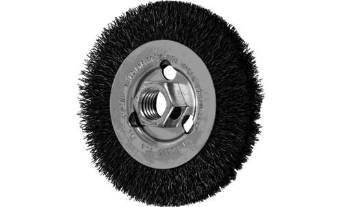 "PFERD 82195 Crimped Wheel for Angle Grinders | 4"" Diameter | 1/2"" Width | Carbon Steel Wire | Box of 5"