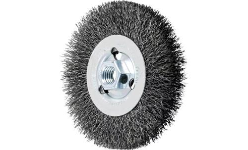 "PFERD 80024 Crimped Wheel for Angle Grinders | 4-1/2"" Diameter | 1/2"" Width | Carbon Steel Wire | Box of 5"