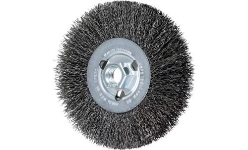 "PFERD 80036 Crimped Wheel for Angle Grinders | 5"" Diameter | 1/2"" Width | Carbon Steel Wire | Box of 5"