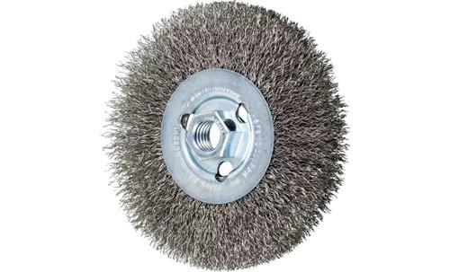 "PFERD 80366 Crimped Wheel for Angle Grinders | 5"" Diameter | 1/2"" Width | Stainless Steel Wire (INOX) | Box of 5"