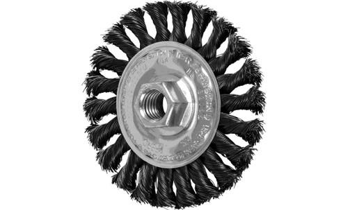 "PFERD 82165 Full Cable Twist Knot Wheel | 4"" Diameter | 1/2"" Width | Carbon Steel Wire | Box of 10"