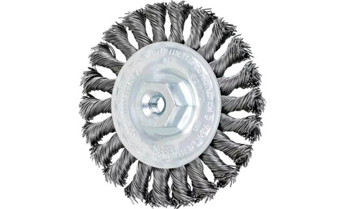 "PFERD 82170 Full Cable Twist Knot Wheel | 4"" Diameter | 1/2"" Width | Carbon Steel Wire | Box of 10"