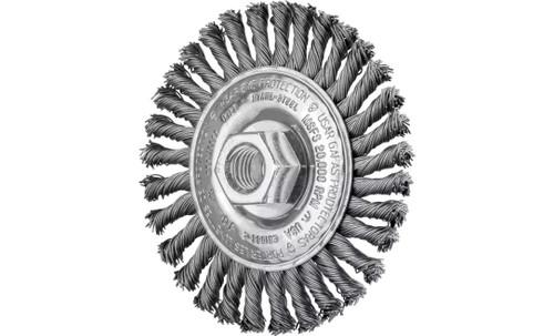 "PFERD 82186 Stringer Bead Twist Knot Wheel | 4"" Diameter | 3/16"" Width | Carbon Steel Wire | Box of 10"