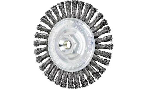 "PFERD 82190 Stringer Bead Twist Knot Wheel | 4"" Diameter | 3/16"" Width | Carbon Steel Wire | Box of 10"