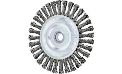 "PFERD 82193 Stringer Bead Twist Knot Wheel | 4"" Diameter | 3/16"" Width | Carbon Steel Wire | Box of 10"