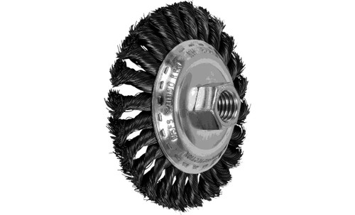 "PFERD 82201 Knot Wire Bevel Brush | 4"" Diameter | Carbon Steel Wire | Box of 5"