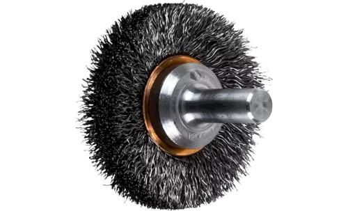 "PFERD 82890 Crimped Wire Wheel Brush | 1-1/2""Diameter | Carbon Steel Wire | Box of 10"