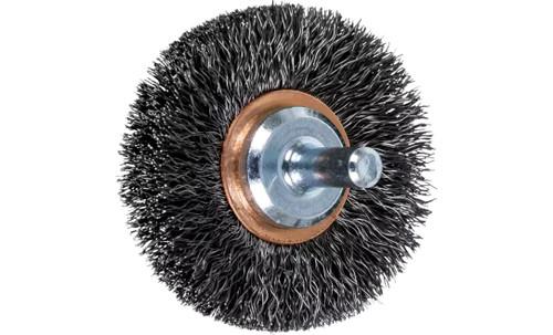 "PFERD 82893 Crimped Wire Wheel Brush | 2""Diameter | Carbon Steel Wire | Box of 10"