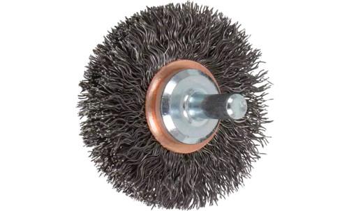 "PFERD 82894 Crimped Wire Wheel Brush | 2""Diameter | Carbon Steel Wire | Box of 10"
