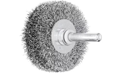 "PFERD 82902 Crimped Wire Wheel Brush | 2""Diameter | Carbon Steel Wire | Box of 10"
