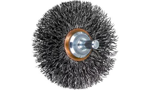 "PFERD 82896 Crimped Wire Wheel Brush | 2-1/2""Diameter | Carbon Steel Wire | Box of 10"