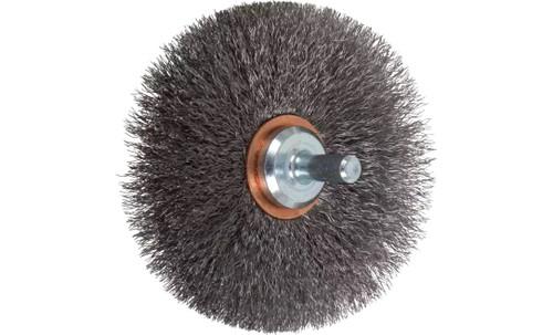 "PFERD 82897 Crimped Wire Wheel Brush | 3""Diameter | Carbon Steel Wire | Box of 10"