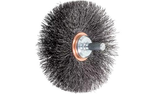 "PFERD 82898 Crimped Wire Wheel Brush | 3""Diameter | Carbon Steel Wire | Box of 10"