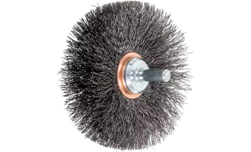 "PFERD 82899 Crimped Wire Wheel Brush | 3""Diameter | Carbon Steel Wire | Box of 10"