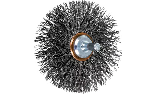 "PFERD 82901 Crimped Wire Wheel Brush | 3""Diameter | Carbon Steel Wire | Box of 10"