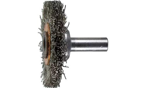 "PFERD 82906 Crimped Wire Wheel Brush | 1-1/2"" Diameter | Stainless Steel Wire | Box of 10"
