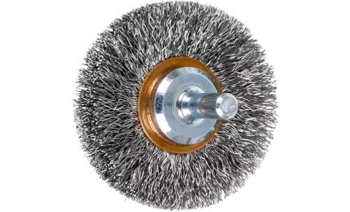 "PFERD 82907 Crimped Wire Wheel Brush | 2""Diameter | Stainless Steel Wire | Box of 10"