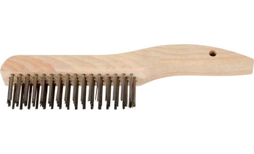 PFERD 85035 Shoe Handle Scratch Brush without Scraper | Stainless Steel Wire | Box of 12