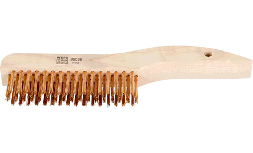 PFERD 85036 Shoe Handle Scratch Brush without Scraper | Bronze Wire | Box of 12