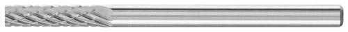 "PFERD 23122 Carbide Bur | SCTI SA-43 | Cylindrical Shape A with Plain End (Uncut) | 1/8"" Shank | Double Cut"