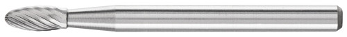 "PFERD 23402 Carbide Bur | SCTI SH-41 | Flame Shape H | 1/8"" Shank | Double Cut"