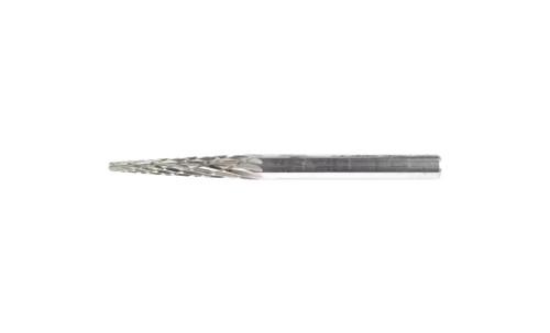 "PFERD 23492 Carbide Bur | 1/8"" Diameter | SCTI SM-43 | Cone Shape M with Pointed End | Double Cut"