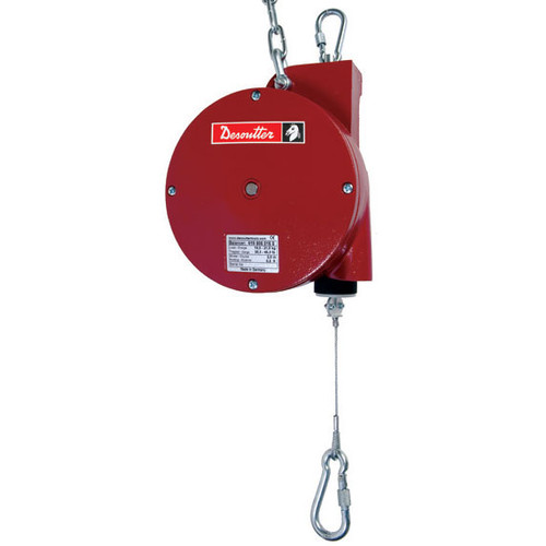 Desoutter 6158050170 Ergonomics Balancer   25DF Model   360° Swiveling Safety Hook   Reaction Free   55.1 lb Max. Load Capacity