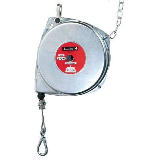 Desoutter 50052 Ergonomic Spring Balancer | 10D Model | D Series | Steel Housing | Steel Cable | 11 lb Max. Load Capacity