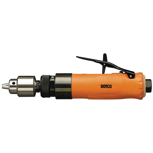 "Dotco 15LF087-38 Inline Drill   15LF Series   0.4 HP   1/4"" Chuck   600 RPM   1/4"" Drill Diameter Capacity   Composite Housing   Rear Exhaust"