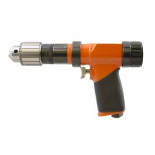 Cleco 135DPV-14B-50 Variable Speed Pistol Grip Pneumatic Drill   135DPV Series   1,250 RPM   Aluminum Housing   Rear Exhaust