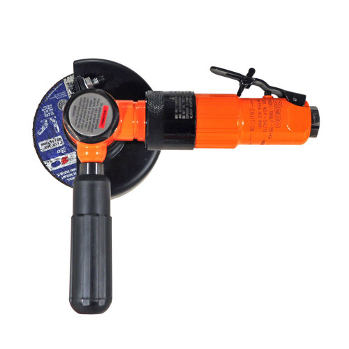 Cleco 216GLF-115A-W3T4 Heavy Duty Head Right Angle Grinder   216 Series   0.6 HP   Aluminum Housing   11,500 RPM   Front Exhaust