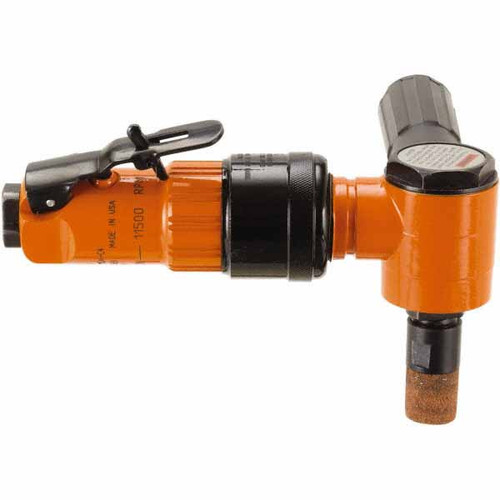 """Cleco 236GLSC-115A-C4 Heavy Duty Head Right Angle Grinder   236 Series   0.8 HP   11,500 RPM   Aluminum Housing   1/4"""" Collet   Side Exhaust"""