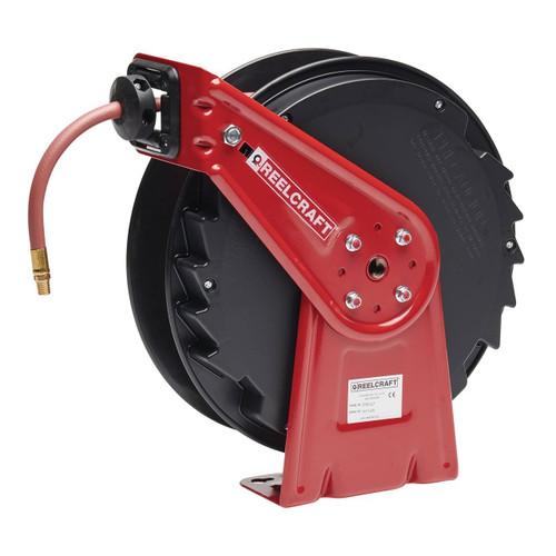 Reelcraft RT450-OLP Medium Duty Spring Retractable Hose Reel | 1/4 in. Hose Diameter | 50 Ft. Hose Length | 300 Max PSI