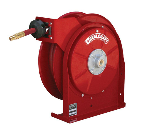 Reelcraft A5825 OLP Premium Duty Spring Retractable Hose Reel   1/2 in. Hose Diameter   25 Ft. Hose Length   300 Max PSI