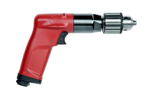 "Chicago Pneumatic CP1014P05 3/8"" Pistol Air Drill | Key Chuck | 0.5 HP | 500 RPM | 18.2 (ft-lb) Stall Torque"