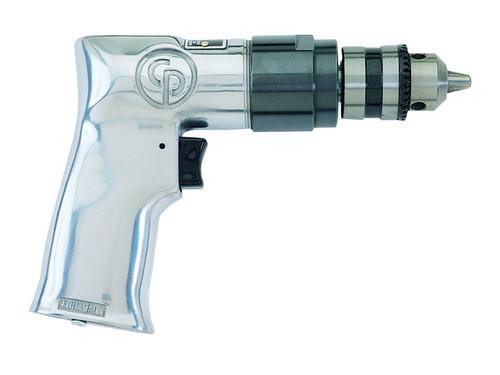 "Chicago Pneumatic CP785 3/8"" Pistol Air Drill | Key Chuck | 0.5 HP | 2,400 RPM | 3.1 (ft-lb) Stall Torque"