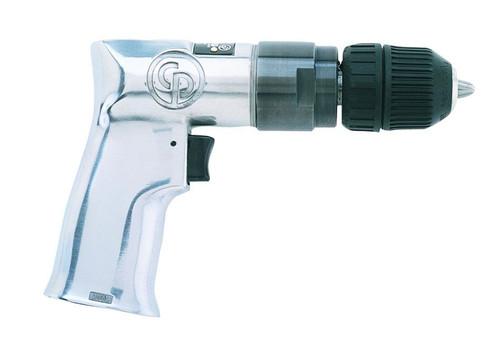 "Chicago Pneumatic CP785QC 3/8"" Pistol Air Drill | Key Chuck | 0.5 HP | 2,400 RPM | 3.1 (ft-lb) Max Torque"