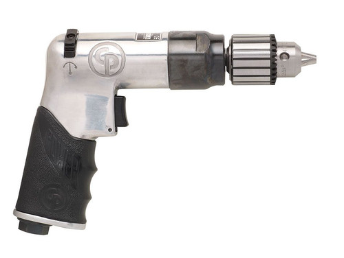 "Chicago Pneumatic CP789R-26 3/8"" Pistol Air Drill | Key Chuck | 0.4 HP | 2,600 RPM | 3.1 (ft-lb) Stall Torque"