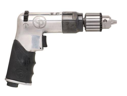 "Chicago Pneumatic CP789R-42 3/8"" Pistol Air Drill | Key Chuck | 0.4 HP | 4,200 RPM | 1.9 (ft-lb) Stall Torque"