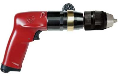 "Chicago Pneumatic CP1117P05 1/2"" Pistol Air Drill | Keyless | 1 HP | 500 RPM | 22.2 (ft-lb) Stall Torque"