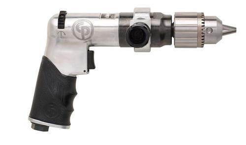 "Chicago Pneumatic CP789HR 1/2"" Pistol Air Drill | Key Chuck | 0.4 HP | 500 RPM | 15.6 (ft-lb) Stall Torque"