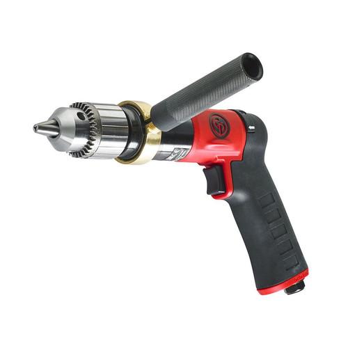 "Chicago Pneumatic CP9789C 1/2"" Pistol Air Drill | Keyed Metal | 0.5 HP | 840 RPM | 10.3 (ft-lb) Stall Torque"