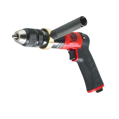 "Chicago Pneumatic CP9791C 1/2"" Pistol Air Drill | Keyless | 0.5 HP | 840 RPM | 10.3 (ft-lb) Stall Torque"