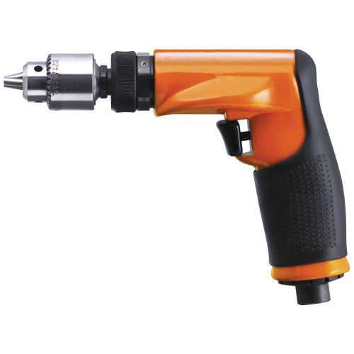 "Dotco 14CFS92-51 Non-Reversible Pistol Grip Pneumatic Drill | 14CF Series | 0.4 HP | 3,800 RPM | Composite Housing | 3/8"" Chuck"