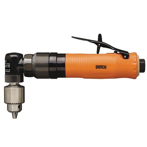 Dotco 15L1487-38 Right Angle Pneumatic Drill   15-14 Series   0.3 HP   1,500 RPM   Composite Housing   Rear Exhaust