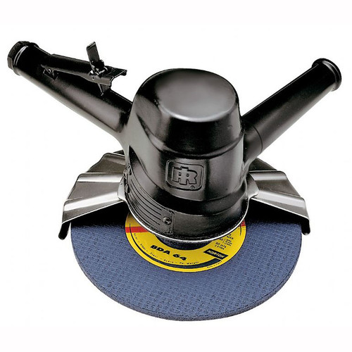 "Ingersoll Rand 99V60P107 Vertical Grinder | 3 HP | 6,000 RPM | 5/8"" - 11 Thread, 7"" Guard | Side Exhaust"
